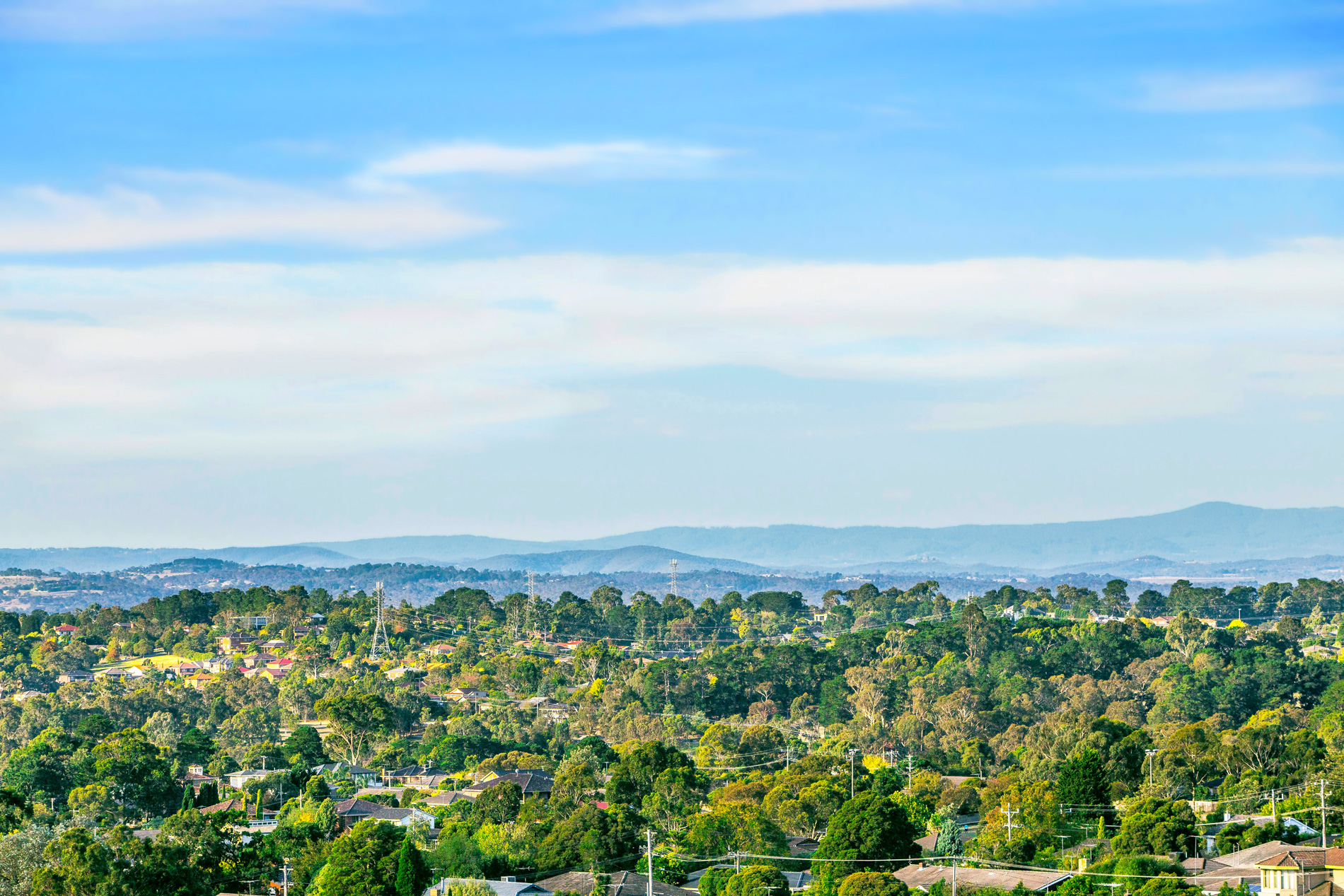 View towards Dandenong Ranges