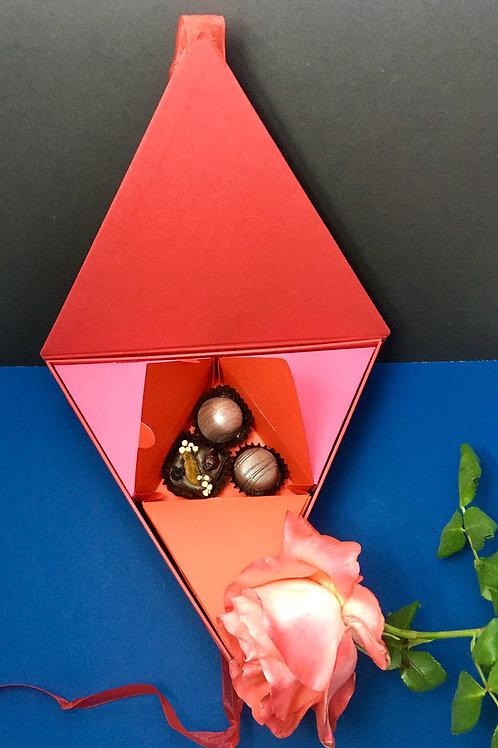 Caja de chocolates Ensamble.