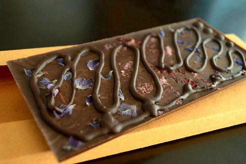 Tablilla de chocolate a la flor