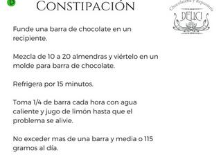 Chocolate contra el estreñimiento