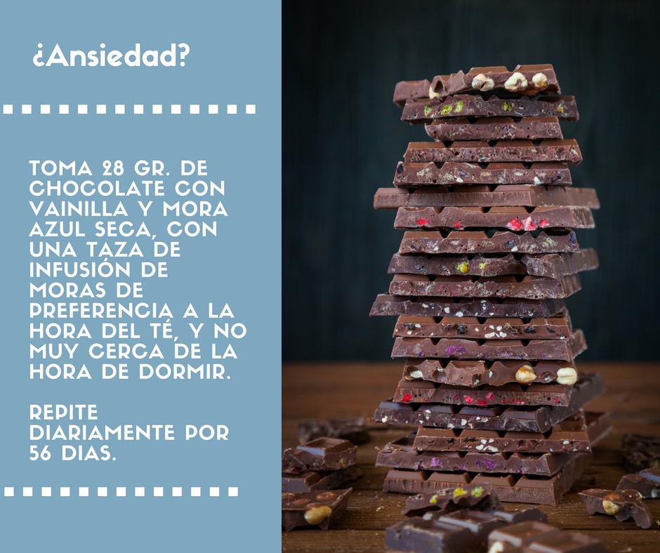 Chocolate para calmar la ansiedad