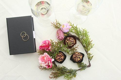 Regalo para el 14 de febrero mujer Trufas de rosas y arreglo floral
