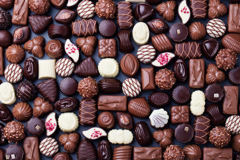 confecciones de chocolate, trufas, bombones, chocolate macizo
