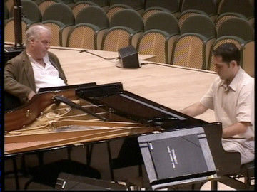 With Daniel Barenboim