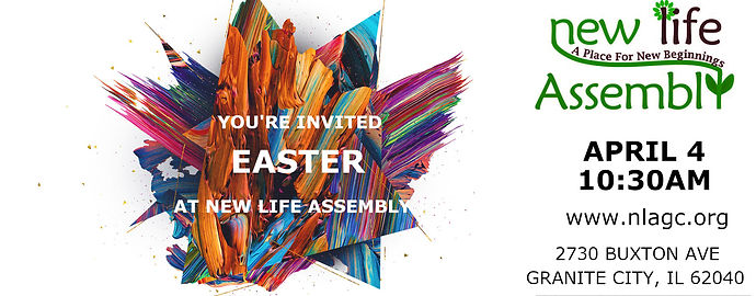 New Life Assembly Granite City Easter Invitation