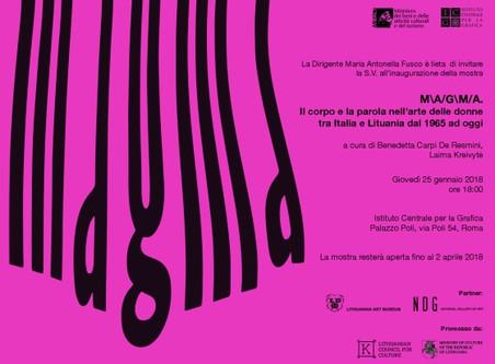 MAGMA. Il corpo e la parola nell'arte delle donne tra Italia e Lituania dal 1965 ad oggi.