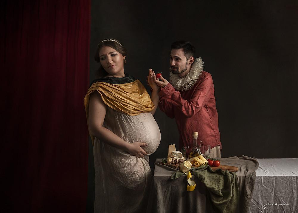 Sedinta foto de maternitate fine art, concept maternity photo shoot, portret maternitate fine art