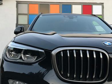 BMW X3 nach Steinschlagschutzfolierung