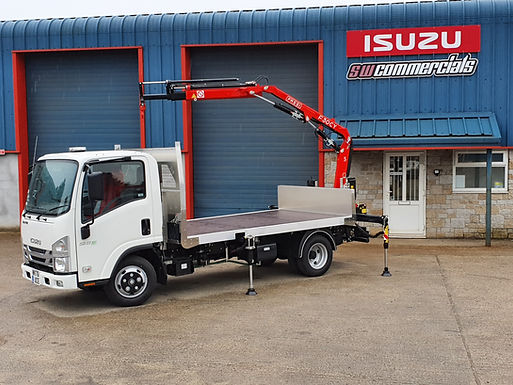 NEW ISUZU N35.125 T GRAFTER WITH A CRANE LONG WHEEL BASE