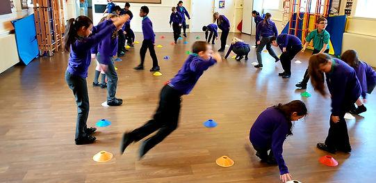 children doing active learning