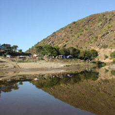 Island view to Camping site