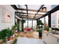 Kitchen Penthouse Shanghai Interior Design  by DXMID Residential modern interior design,  penthouse