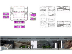 World of Bentley sketch plan Exhibition Design Shanghai China