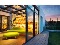 Bedroom Garden Penthouse Shanghai Interior Design  by DXMID Residential modern interior design,  pen