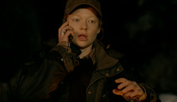 Sarah Snook on phone
