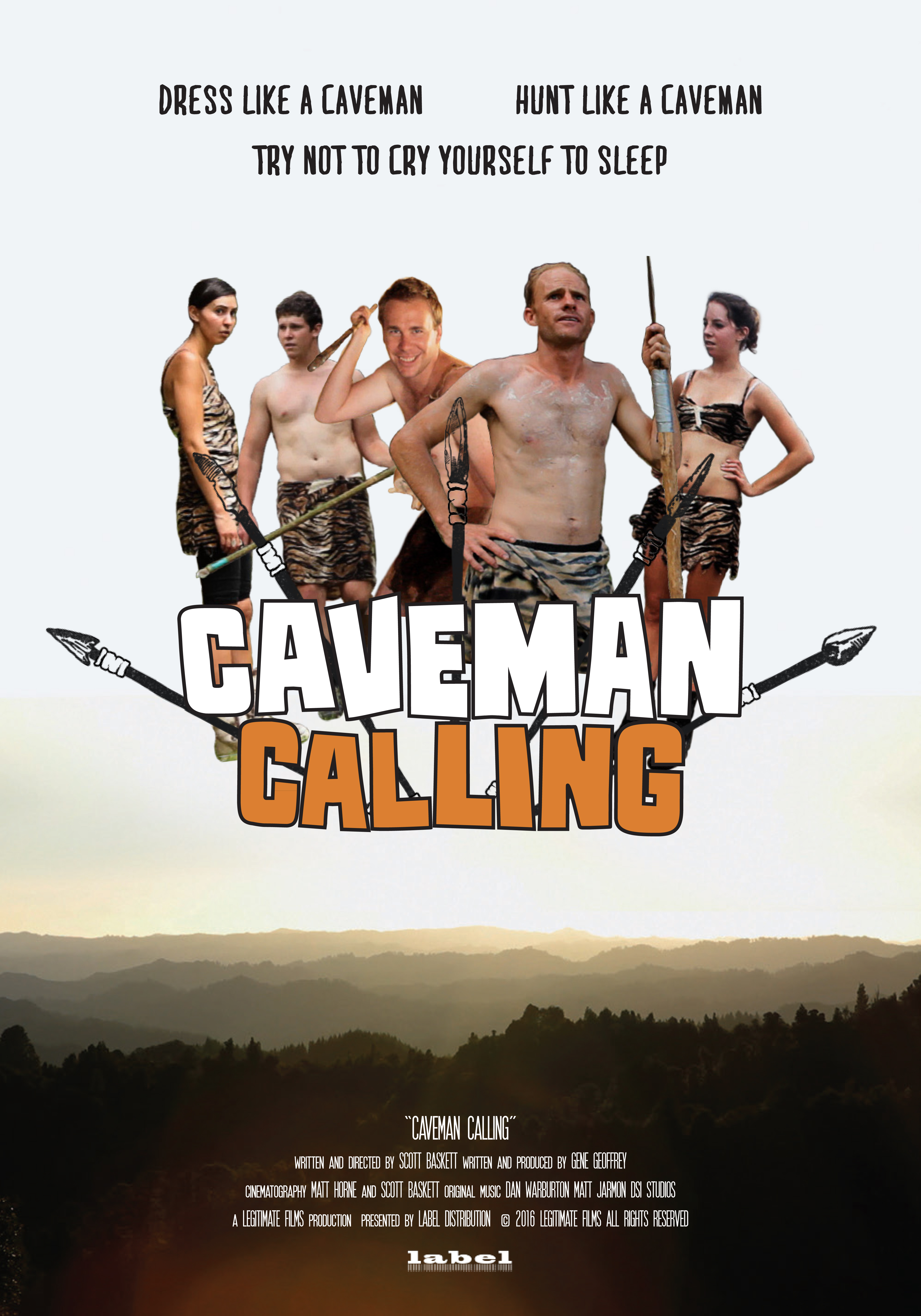 Caveman Calling Poster Movie 7x10 Proof6-2