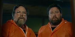 Jeff & Terry  at Bathroom door