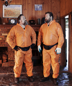Jeff(Clay) & Terry(Shane) suited up