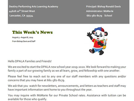 DPALA August Newsletter