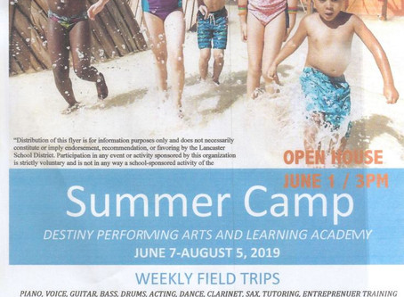 Destiny Performing Arts and Learning Academy Presents: D.P.A.L.A. Summer Camp! Jun 7 - August 5th 20