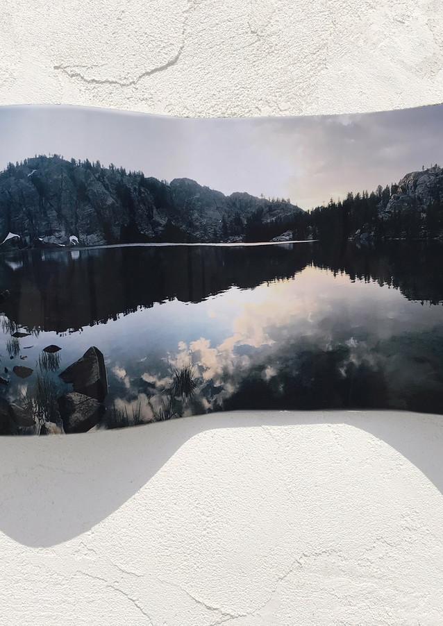 "Rosalie Lake Parabola (Day 6) Photograph on Wood 8 x 16"" 2017"