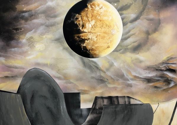 "Venus Firmament Spray paint on canvas 60 x 48"" 2020"