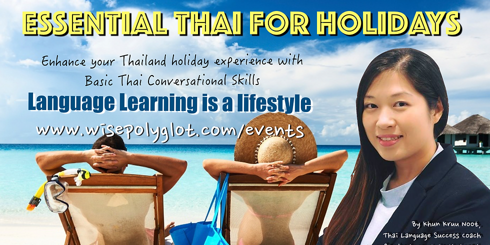 Essential Thai For Holidays Workshop