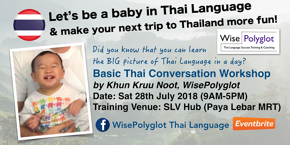 Basic Thai Conversation Workshop by Khun Kruu Noot