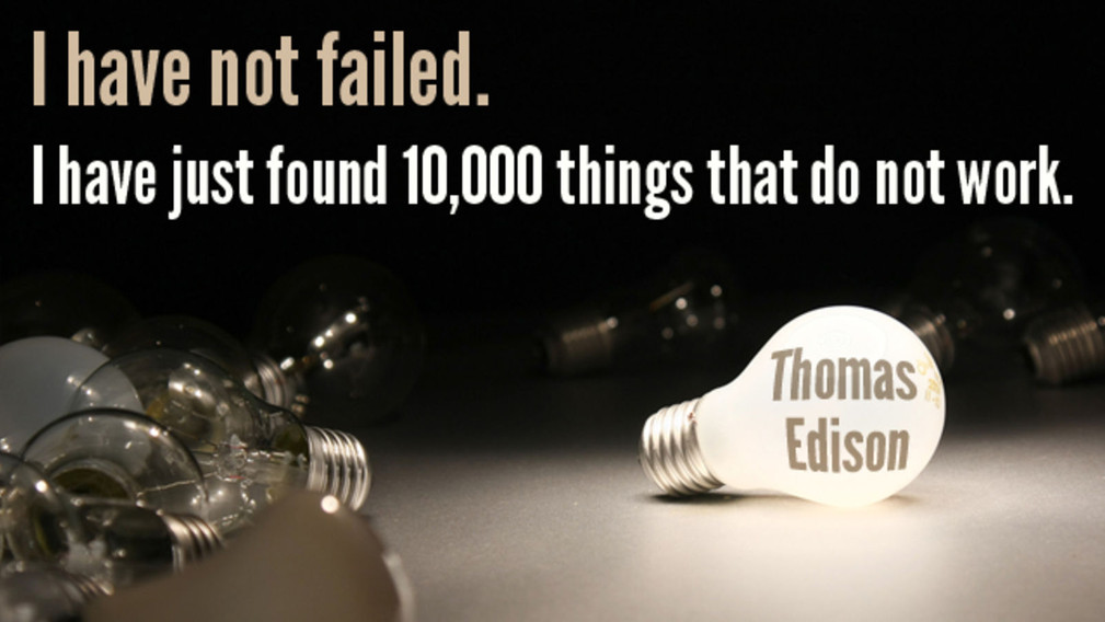 Failures and perseverance are the earlier steps before success