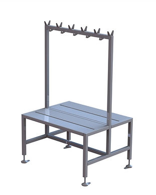 Small Double Bench With Coat Rack.JPG