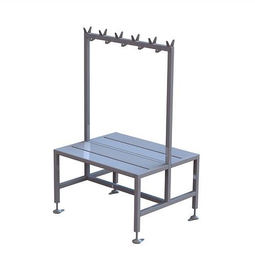 Short Double Bench With Coat Rack