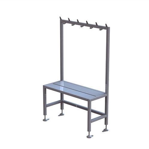 Short Single Bench With Coat Rack