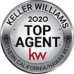 Top Agent label 2020 NORCAL HAWAII Silve