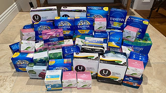 Menstrual Product Drive Donations