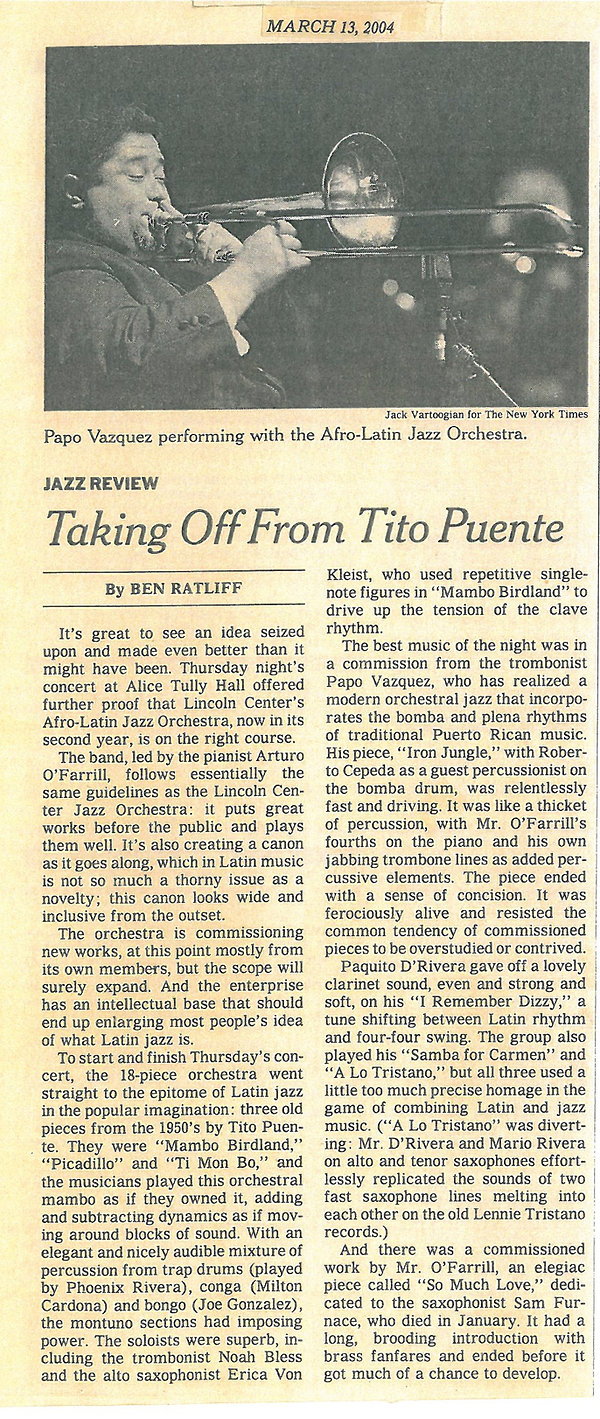 New York Times Taking Off from Tito Puen