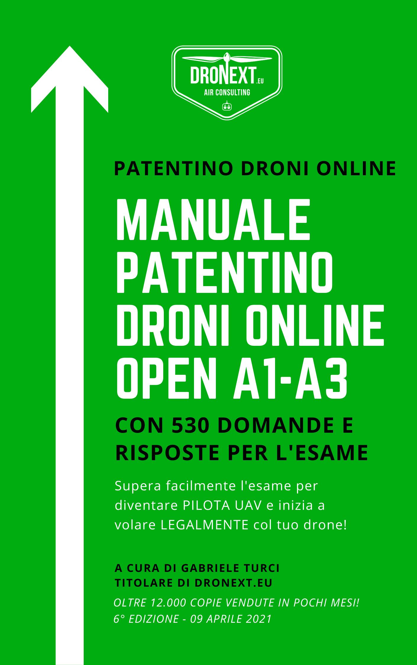 PATENTINO ONLINE DRONI A1-A3 DOMANDE D'ESAME