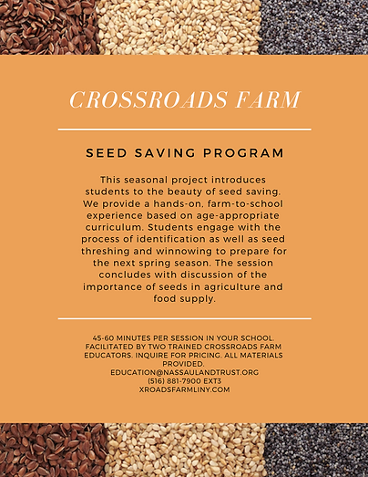 Seed Saving Farm to School Program