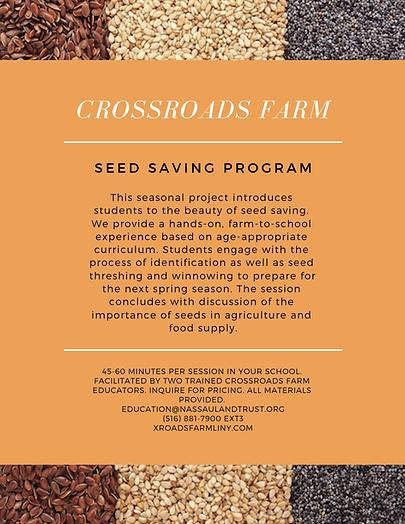 Seed Saving Farm to School Program