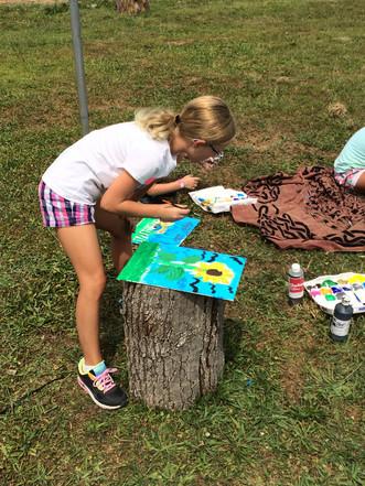 Session 2 of Sunshine Days at Crossroads Farm: Art Day!