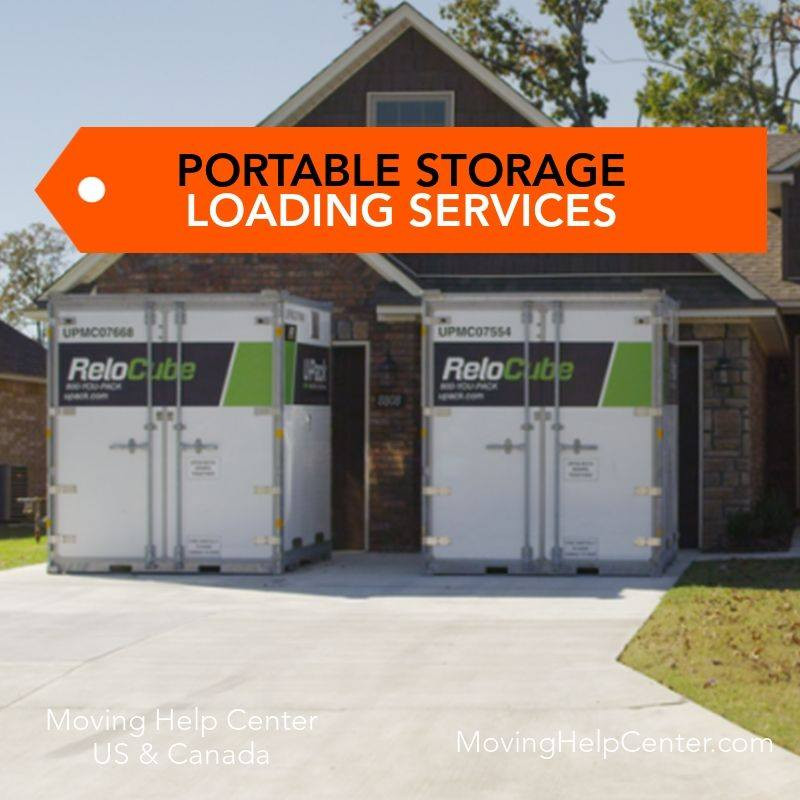 portable storage loading service pods