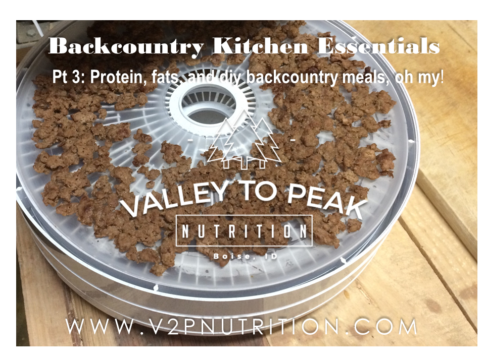 Backcountry dehydrated proteins