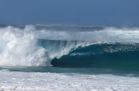 Waimea, Hawaii - waiting on The Eddie Big Wave Invitational