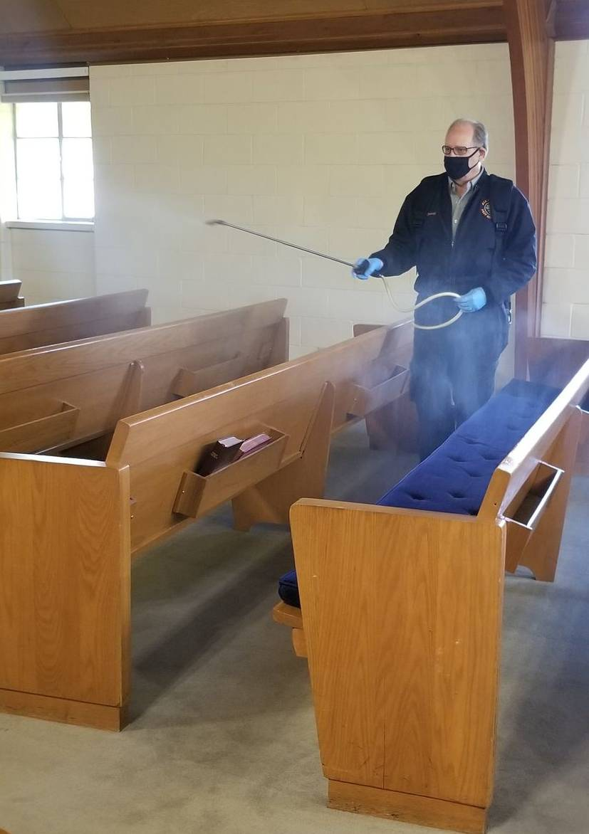 Sanitizing a church