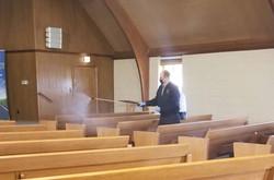 Sterilizing a church