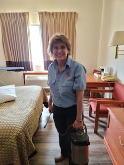 Terri Belisle Treating A Hotel.