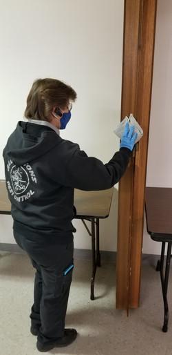 Sanitizing a church