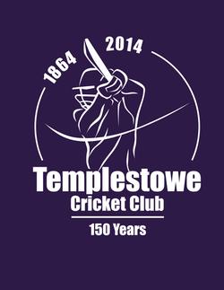 Templestowe CC 150Years Logo on purple