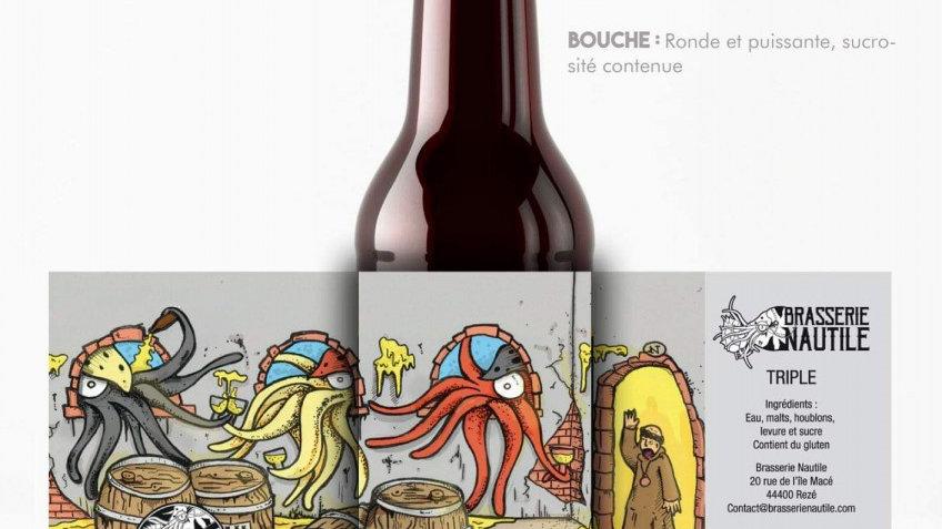 """Bière artisanale  Nautile """" Triple """""""