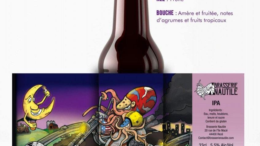 """Bière artisanale  Nautile """" IPA """""""