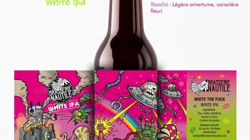 "Bière artisanale  Nautile "" White the fuck """